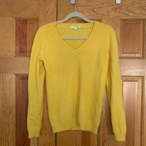 Boden cashmere sweater. Sz S. marigold yellow